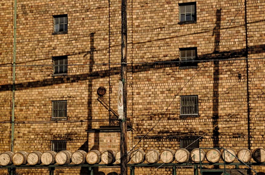 Barrels on the move at Buffalo Trace.